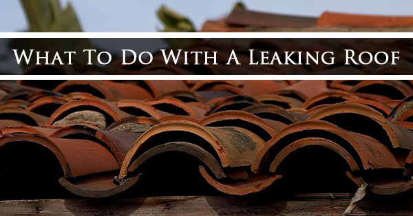 What To Do With A Leaking Roof